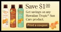 Hawaiian Tropic $1 Printable Coupon