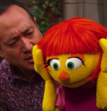A Muppet With a Message, Julia Lets Kids Kn…