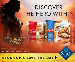 Enter The @SheSpeaksUp Tyson #WonderWomanAtSamsClub Giveaway!