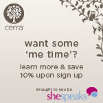 Join me Wednesday night for a Me Time twitter party with Cerra