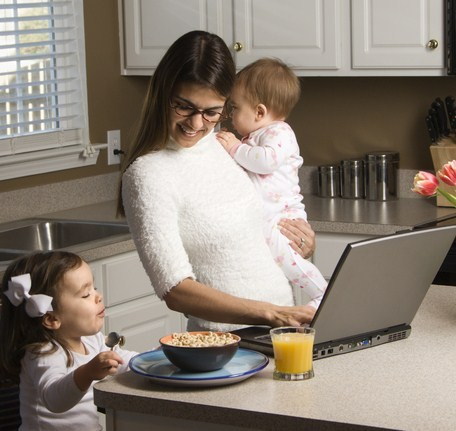 Are Moms More Productive in …