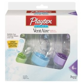 Review of playtex ventaire advanced wide baby bottles.