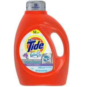 Tide Liquid Detergent 2x Concentrated with Febreze Spring & Renewal