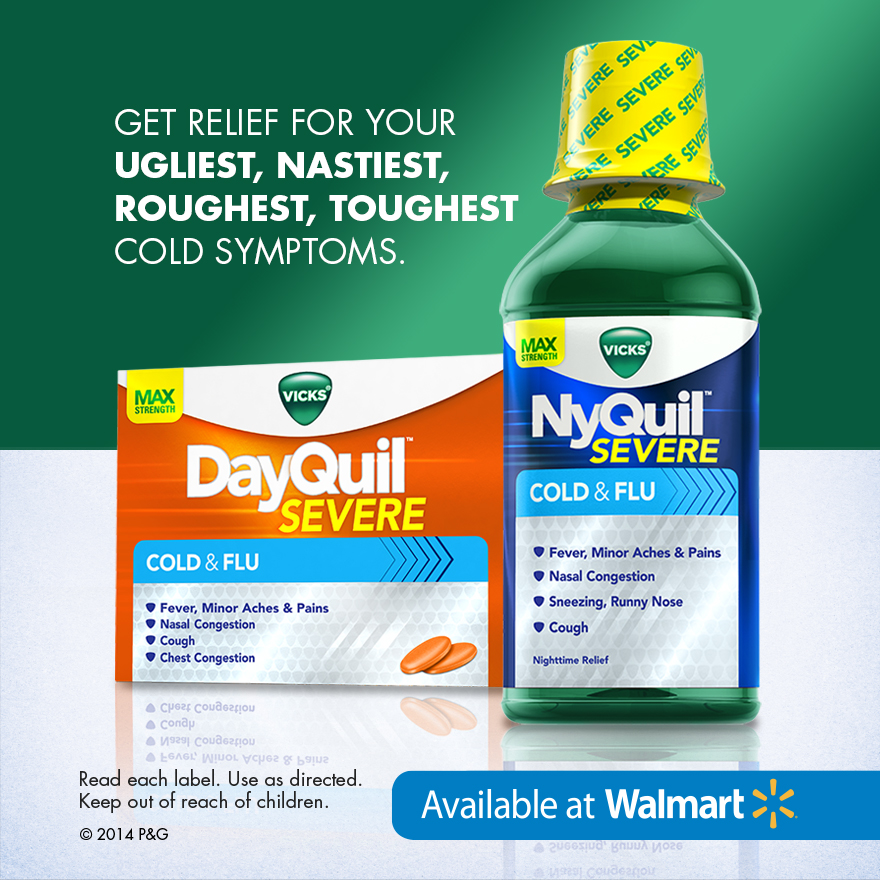 Vicks DayQuil and NyQuil Severe foe cold and flu season - DelightfulChaos.com