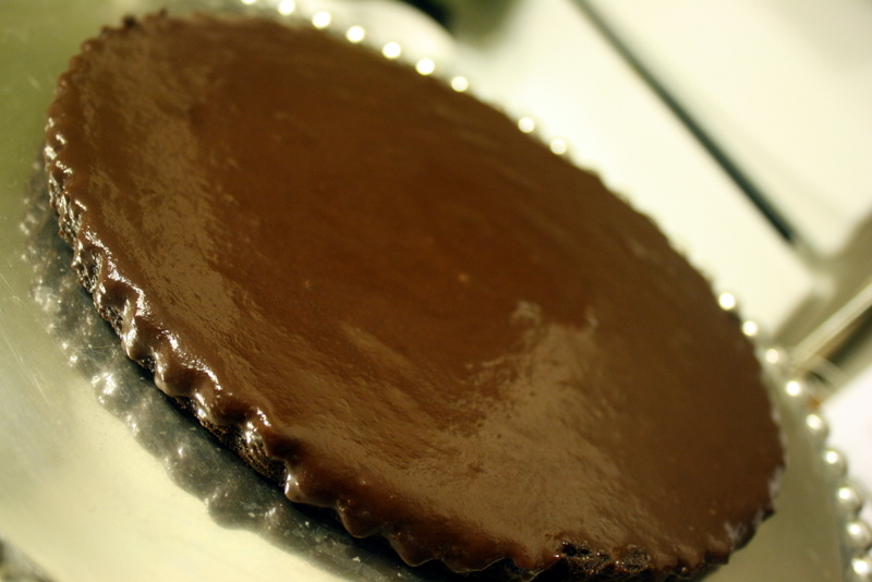 Chocolate Honey-Almond Tart