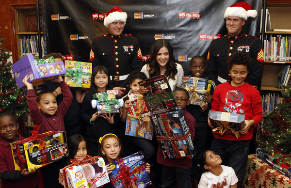Lucy Hale and Toys for Tots