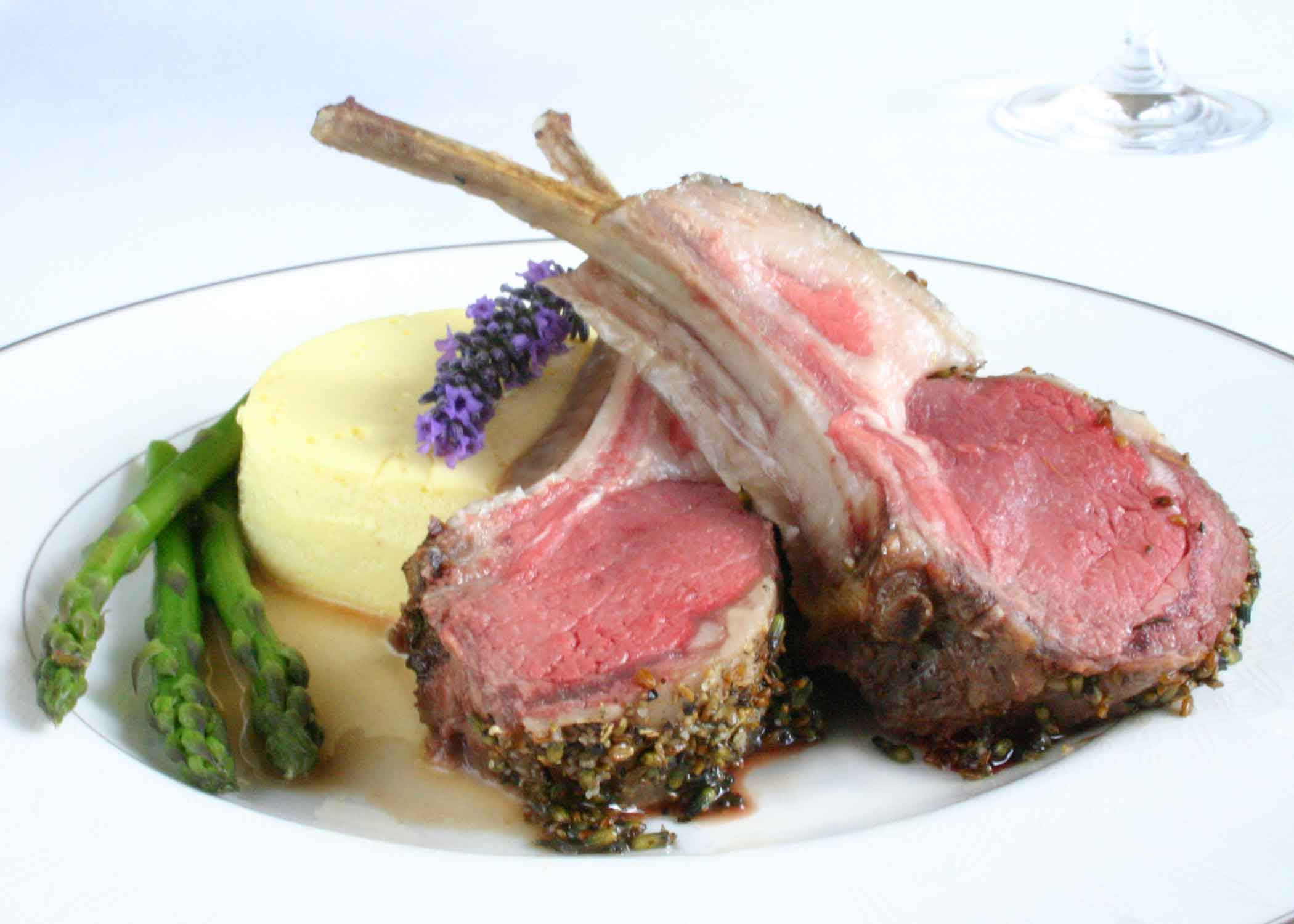 Delicious Duo: Rack of Lamb with Goat Cheese Custards
