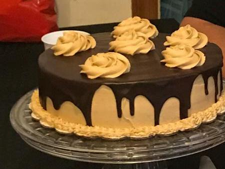 Peanut Butter & Banana Chocolate Drip Cake