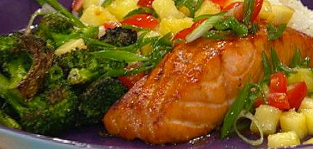 Teriyaki Salmon Steaks