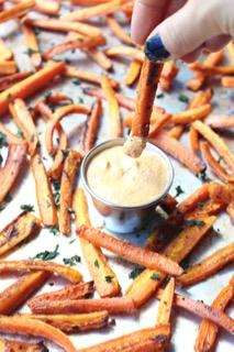Healthy Carrot Fries with Curry Dipping Sau…