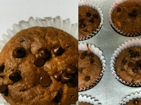Banana Chocolate Chip Protein Muffins