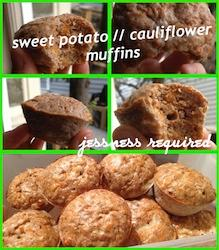 Healthy Cauliflower & Sweet Potato Muffins