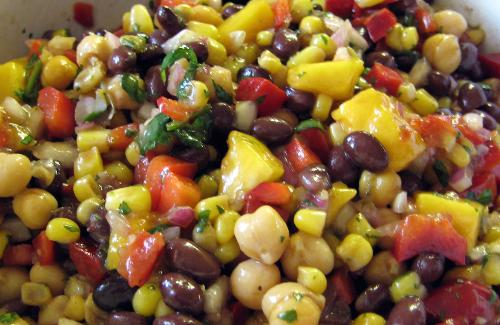 Corn and Black Bean Salad with Basil-Lime V…