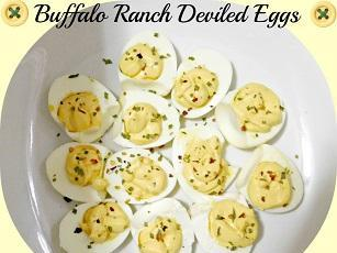 Buffalo Ranch Deviled Eggs