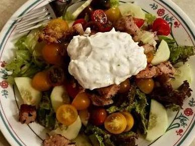 Quick & Easy Souvlaki Salad