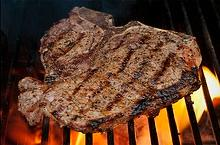 Marinated T-bone Steak on the Grill