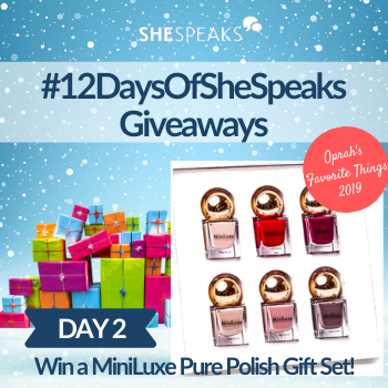 12 Days of SheSpeaks, Day 2: Win a MiniLuxe Pure Polish Gift Set!