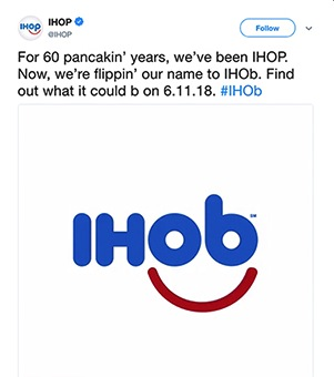 Will IHOP's Name Change to IHOb Draw More Lunch and Dinner Customers?