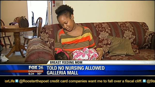 Texas Mom Ordered To Stop Breastfeeding at the Mall