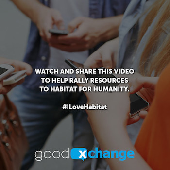 Watch & Share This Video to Help Habitat for Humanity & You May Win a $50 Visa Card! #ILoveHabitat
