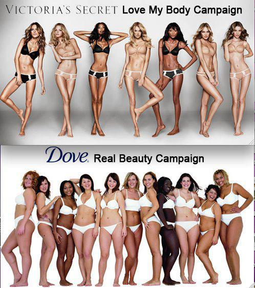 Victoria's Secret vs. Dove:  Ad Campaign Photos Ignite Body Image Debate