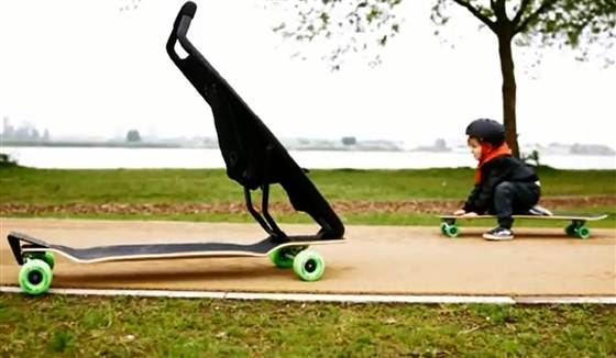 A Skateboard and a Stroller All In One:  Sounds Fun But Is It Safe?