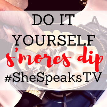 DIY Fall S'mores Dip Recipe on #SheSpeaksTV + #DIYSmoresDip Giveaway