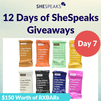 12 Days of SheSpeaks, Day 7: Win $150 Worth of RXBAR Protein Bars