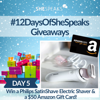 12 Days of SheSpeaks, Day 5: Win a Philips SatinShave & $50 Amazon Gift Card!