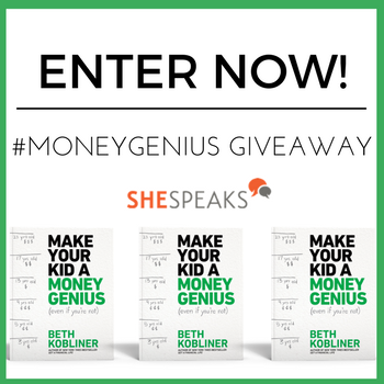 Enter the @SheSpeaksUp #MoneyGenius Book Giveaway!