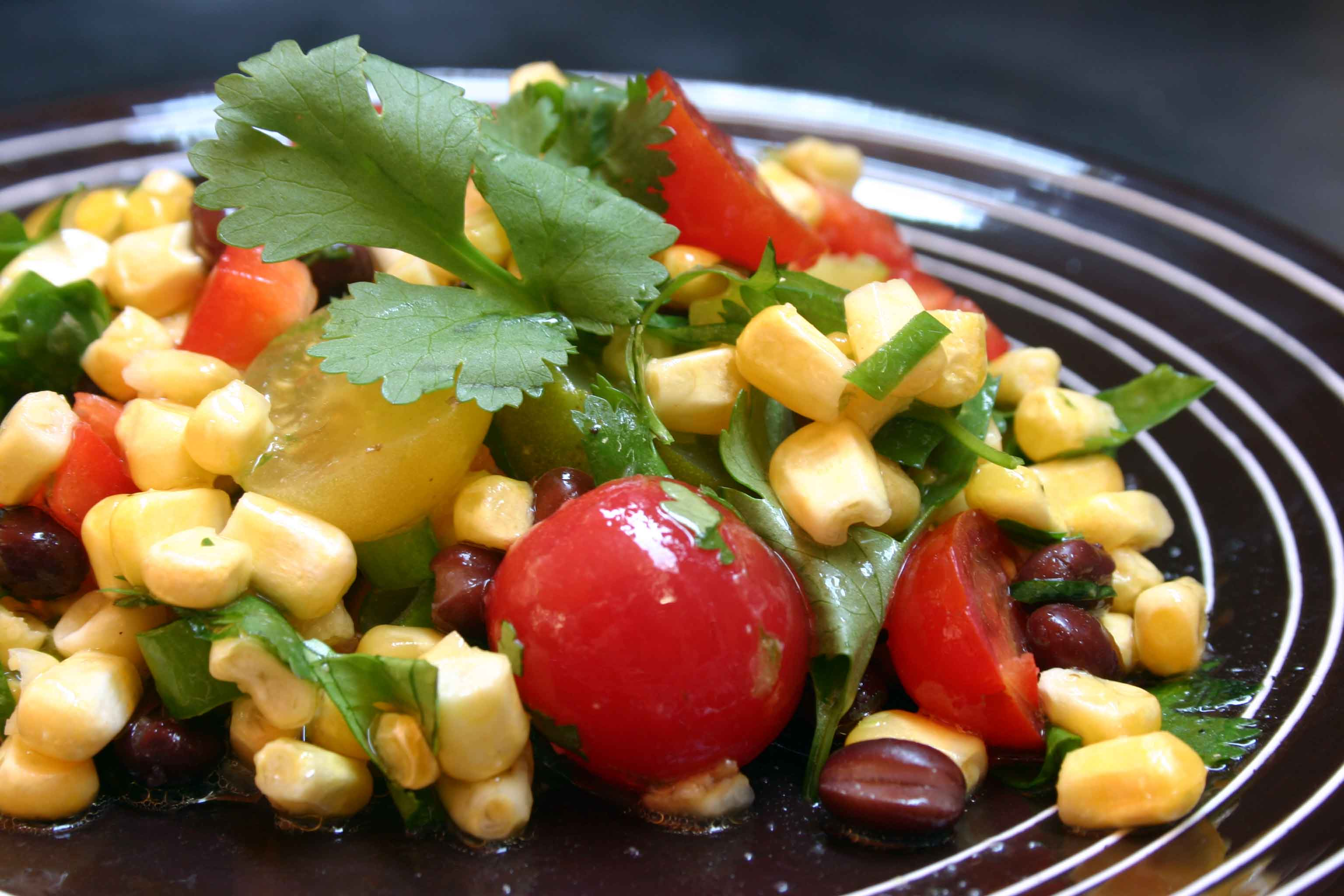 End of Summer Salad with Corn, Tomatoes and Black Beans