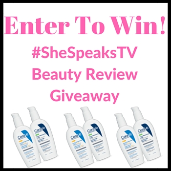 #Beauty | CeraVe Face Moisturizer Review + #SheSpeaksTV Giveaway!