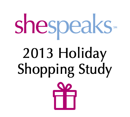 SheSpeaks Holiday Shopping Study 2013