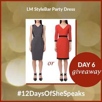 #12DaysOfSheSpeaks Day 6:  Win an LM StyleBar Dress