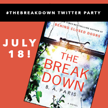 RSVP: #TheBreakdown Twitter Party w/ @SheSpeaksUp & @BAParisAuthor 7/18 @ 1pm ET