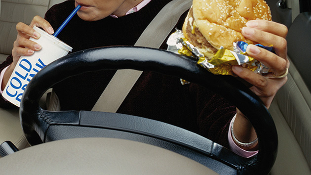 Motorist Busted For Eating a Hamburger: Should Eating Count as a Distracted Driving Offense?