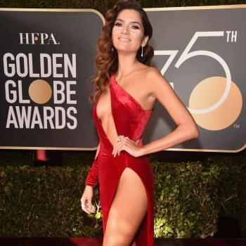 The Actress Who Wore Red in a Sea of Black Faces Backlash After Golden Globes