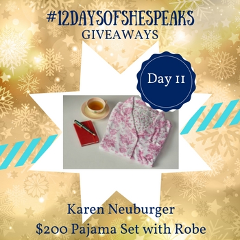 #12DaysOfSheSpeaks Day 11: Get Cozy with $200 @KarenNeuburger Pajama Set with Robe Giveaway