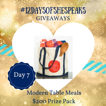 #12DaysOfSheSpeaks Day 7:  Simplify Mealtime with $200 Worth of @ModernTableMeal and More!