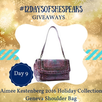 #12DaysOfSheSpeaks Day 9: Accessorize In Style with our @AimeeKestenberg Shoulder Bag Giveaway!