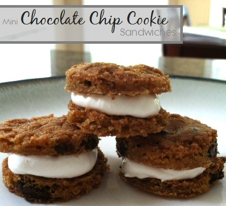 Chocolate Chip Cookie Creme Sandwiches
