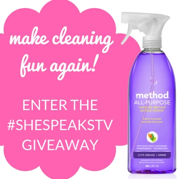 Our @methodhome Lavender All Purpose Cleaner Review + #SheSpeaksTV #Basic Giveaway!