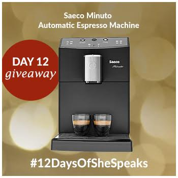 #12DaysOfSheSpeaks Day 12: Win a Saeco  Espresso Machine