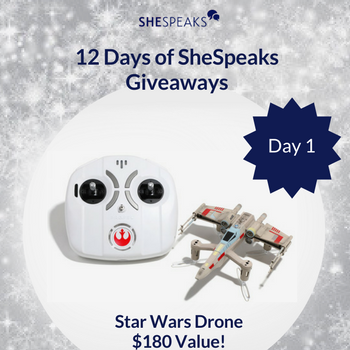 12 Days of SheSpeaks Day 1: Win a Star Wars X-Wing Battlefighter Drone! #thankFULL