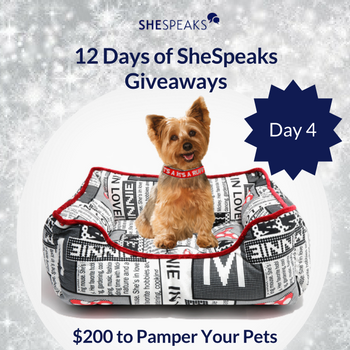12 Days of SheSpeaks Day 4: Win $200 to Pamper Your Pets! #thankFULL