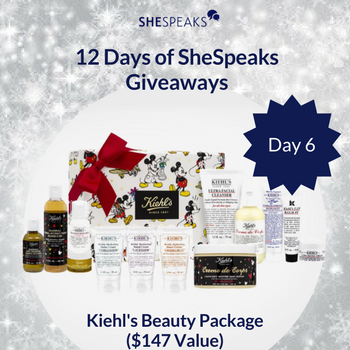 12 Days of SheSpeaks Day 6: Win a Kiehl's Beauty Package! #thankFULL