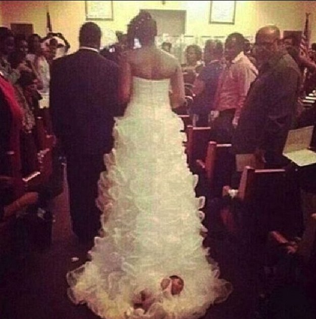 How One Bride Wore Her Baby Down the Aisle
