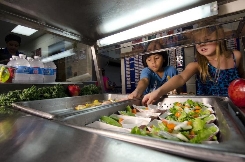 Want Kids To Eat A Healthier School Lunch? All It Takes Is a Smile And A Sticker