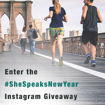 Enter the  #SheSpeaksNewYear Instagram Giveaway to Win a Fitbit