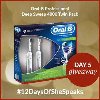 #12DaysOfSheSpeaks Day 5: Win an Oral-B Professional Deep Sweep 4000 Electric Toothbrush